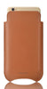Tan Napa Leather 'Screen Cleaning' cover for Apple iPhone 6/6s Plus sleeve case, with protective antimicrobial lining