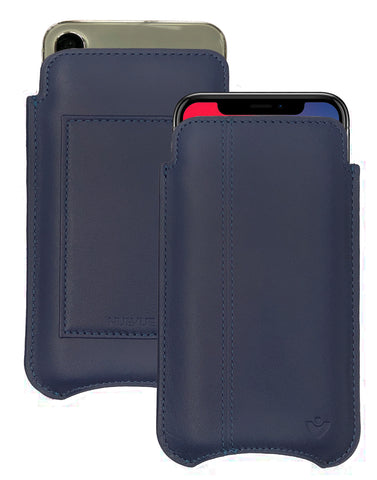 NueVue iPhone X Case Leather Blue Wallet Case