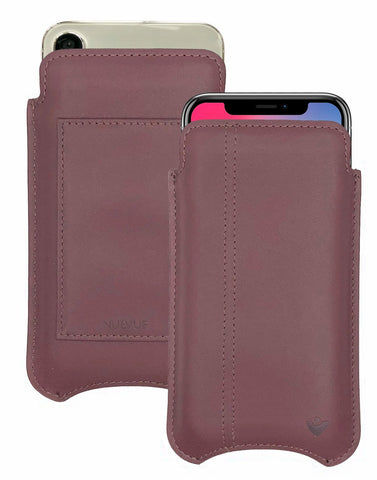 NueVue iPhone X Case Leather Brown iPhone Wallet Case