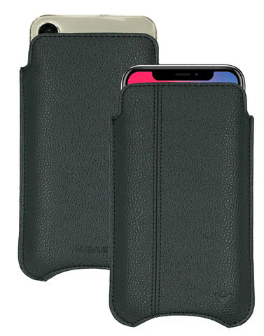 iPhone 12 and iPhone 12 Pro Sleeve Case | Screen Cleaning and Sanitizing Lining | Faux Vegan Approved Leather