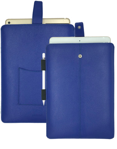French Blue Faux Leather 'Screen Cleaning' iPad Pro Sleeve Case