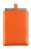 Vegan Leather Flame Orange 'Screen Cleaning' cover for Apple iPad sleeve case, with protective antimicrobial lining