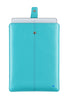 Teal Blue Vegan Leather 'Screen Cleaning' cover for Apple iPad Air sleeve case, with protective antimicrobial lining