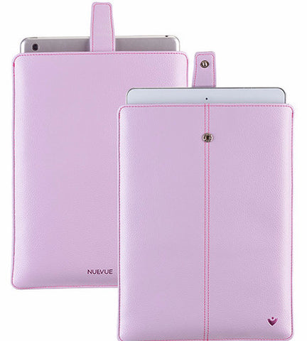 Vegan Leather Sugar Purple 'Screen Cleaning'cover for Apple iPad sleeve case, with protective antimicrobial lining