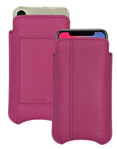 NueVue iPhone X Case Leather Samba Red iPhone Wallet Case