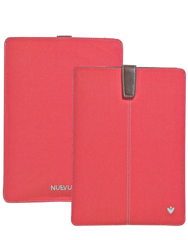Samsung Galaxy Tab S3 Sleeve Case in Coral Pink Canvas
