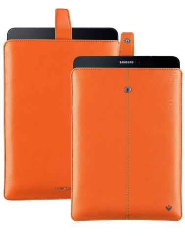 Samsung Galaxy Tab S3 Sleeve Case in Flame Orange Faux Leather
