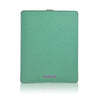 Aqua Green Canvas 'Screen Cleaning' Apple iPad sleeve cover case with protective antimicrobial lining