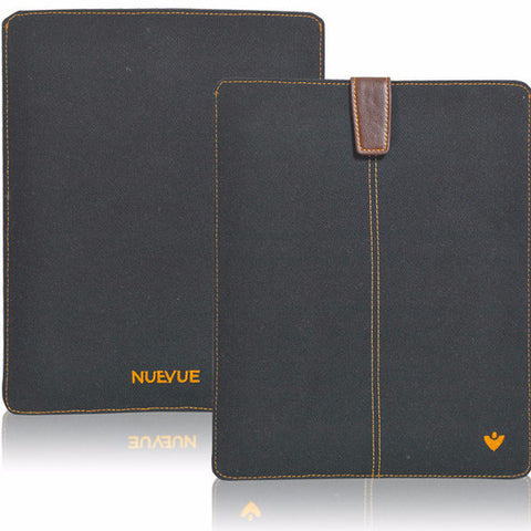 iPad Sleeve Case in Black Cotton Twill | Screen Cleaning Sanitizing Sleeve Case.