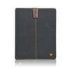 Black Cotton Twill 'Screen Cleaning' iPad sleeve case, with protective antimicrobial lining