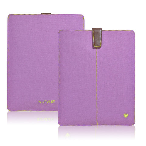 Light Purple Canvas 'Screen Cleaning' cover for Apple iPad sleeve case with protective antimicrobial lining