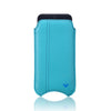 Teal Blue Vegan Leather 'Screen Cleaning' cover for Apple iPhone 6/6s pouch case, with protective antimicrobial lining