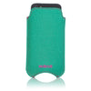 Aqua Green Canvas 'Screen Cleaning' iPhone SE, 5 sleeve case with protective antimicrobial lining