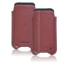 Apple iPhone SE, 5 Sleeve Case | Burgundy Leather | Screen Cleaning Sanitizing Lining.