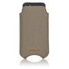 Apple iPhone SE, 5 Sleeve Case | Khaki Cotton Twill | Screen Cleaning Sanitizing Cover