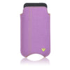 Apple iPhone SE, 5 Sleeve Case | Purple Canvas | Screen Cleaning Sanitizing Lining.