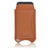 Apple iPhone SE, 5 Pouch Wallet Case in Tan Napa Leather | Screen Cleaning Sanitizing Lining