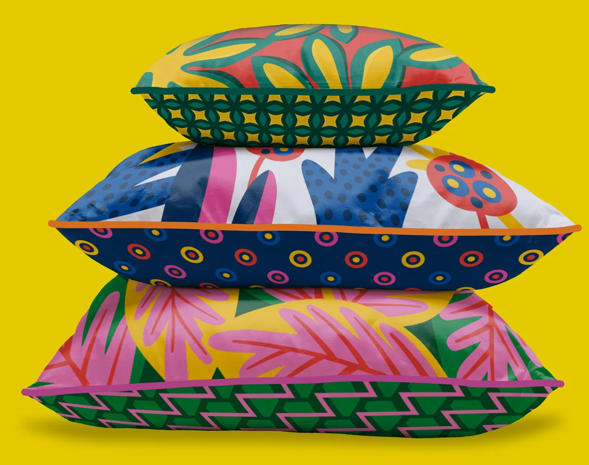Colourful cushions by Republic of Happy