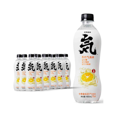 Genki Forest Sparkling Water Carman Orange Flavor 480ml