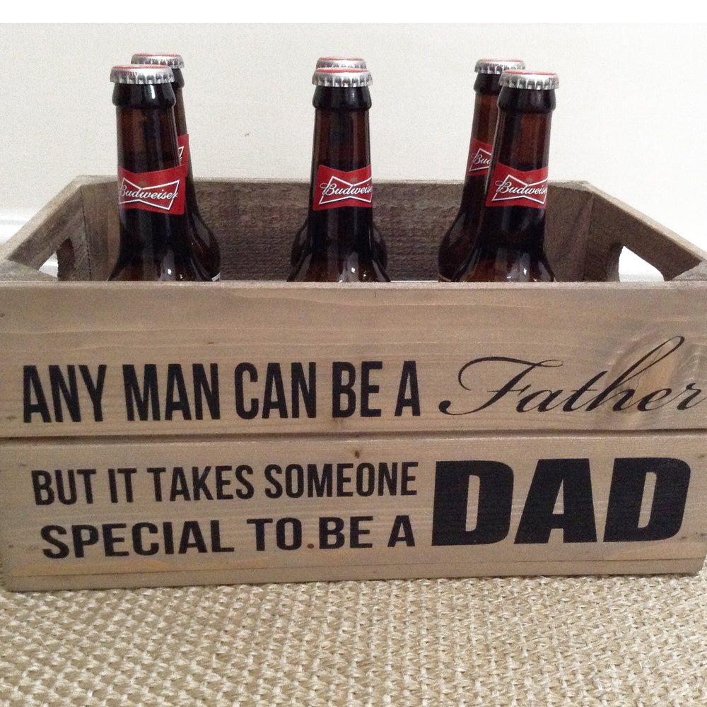 Load image into Gallery viewer, FATHERS DAY WOODEN GIFT CRATE