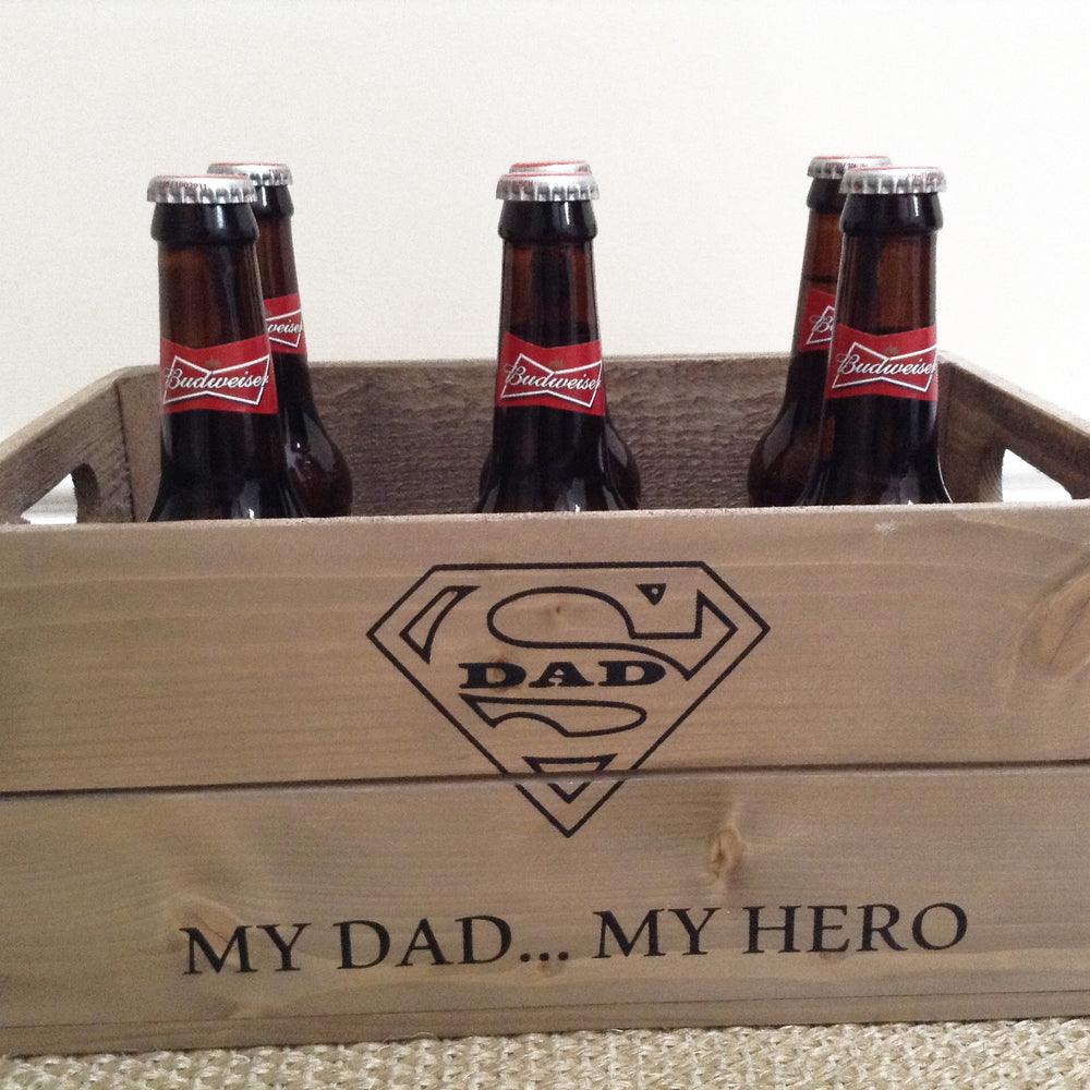 FATHERS DAY WOODEN GIFT CRATE