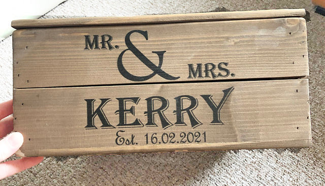 PERSONALISED SMALL WEDDING CRATE