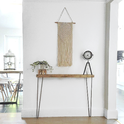 NARROW CONSOLE TABLE WITH HAIRPIN LEGS