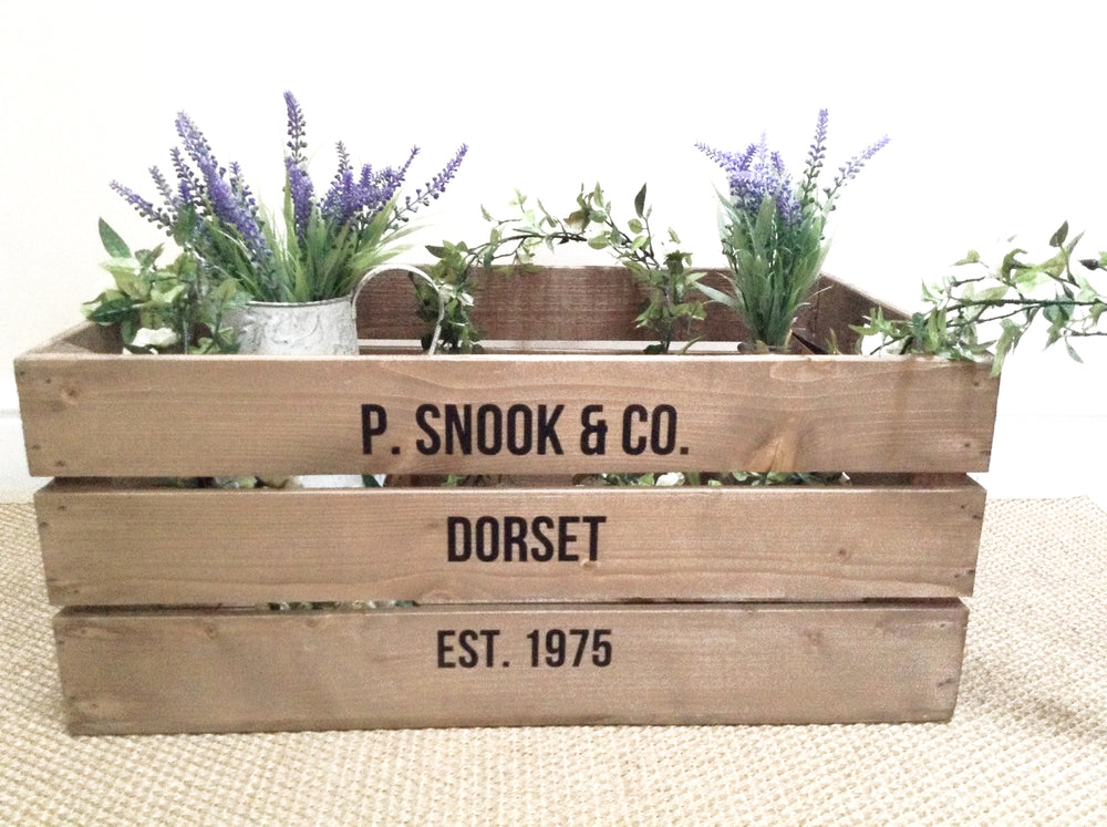 PERSONALISED LARGE APPLE CRATE