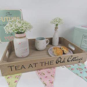 PERSONALISED RUSTIC WOODEN TRAY