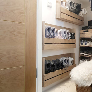 Load image into Gallery viewer, RUSTIC WALL MOUNTED SHOE RACK