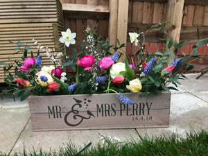 PERSONALISED RUSTIC WEDDING TABLE CENTREPIECE