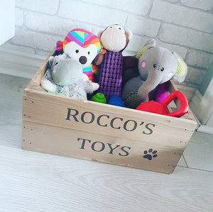PERSONALISED PET TOY CRATE