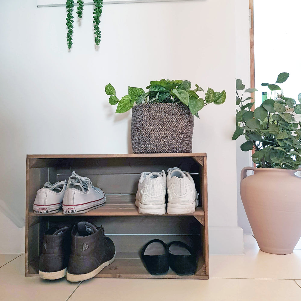 Load image into Gallery viewer, APPLE CRATE SHOE RACK
