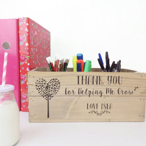 PERSONALISED TEACHER GIFT WINDOW BOX/DESK TIDY