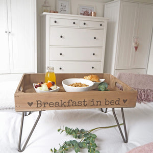 BREAKFAST TRAY WITH HAIRPIN LEGS
