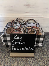 Load image into Gallery viewer, Patterned Key Chain Bracelets-Variety