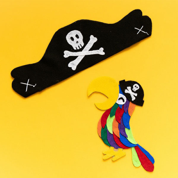 Pirate Hat and Parrot Craft Kit - giggleandriotfun