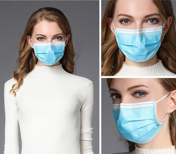 Disposable 3-Ply Face Masks (Wholesale) OPEN TO PUBLIC!
