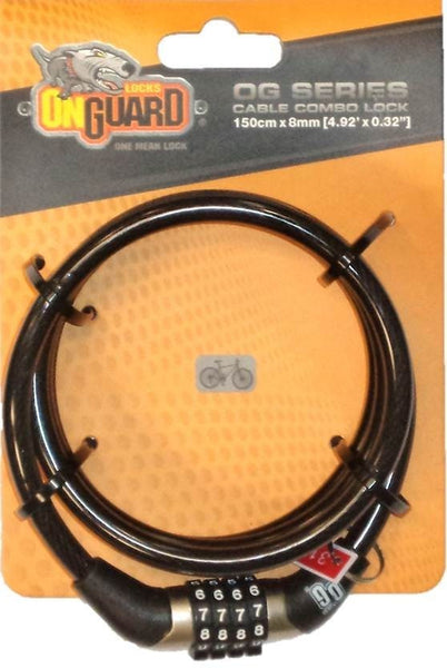 Onguard Lock Combo Cable 150cm 8mm