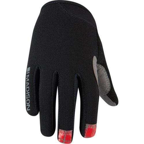 Madison Trail Youth Black Glove Front