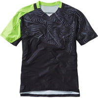 Madison Flux Mens Short Sleeve Black/Krypton Lime Jersey Front