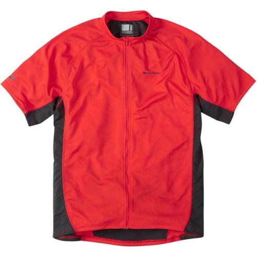 Madison Trail Mens Short Sleeve Jersey Red Front
