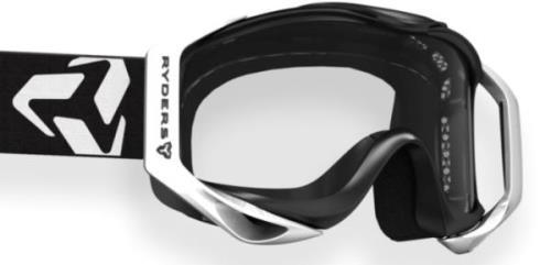 Ryders Tallcan Goggle Black-White / Clear Double Lens