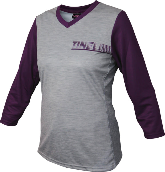 Tineli Trail Jersey Womens 3/4 Sleeve Plum