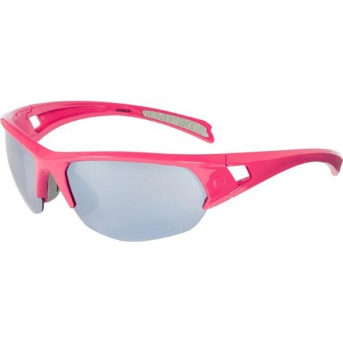Madison Mission Glasses Rose Red Frame - Silver Mirror Lens