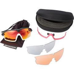 Madison Code Breaker 3 Lens Kit Gloss Black Frame - Pink Mirror/Amber/Clear Lens