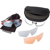 Madison Code Breaker 3 Lens Kit Gloss Red Frame - Silver Mirror/Smoke/Clear Lens