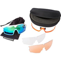 Madison Code Breaker 3 Lens Kit Gloss White Frame - Green Mirror/Amber/Clear Lens
