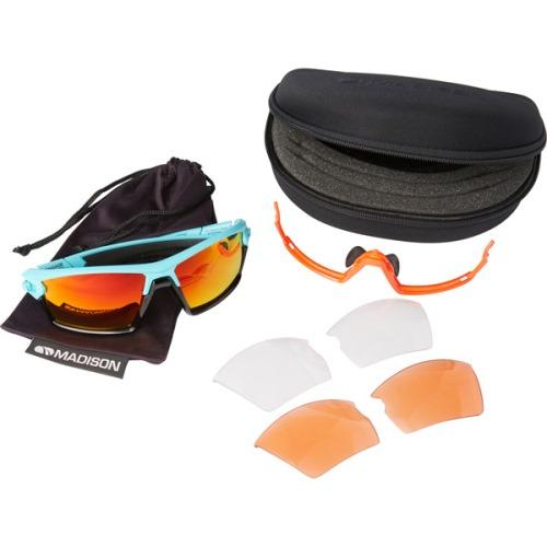 Madison Engage 3 Lens Kit Matt Blue Curaco Frame - Fire Mirror/Amber/Clear Lens