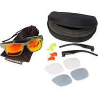 Madison Crossfire 3 Lens Kit Matt Olive Frame - Fire Mirror/Smoke/Clear Lens